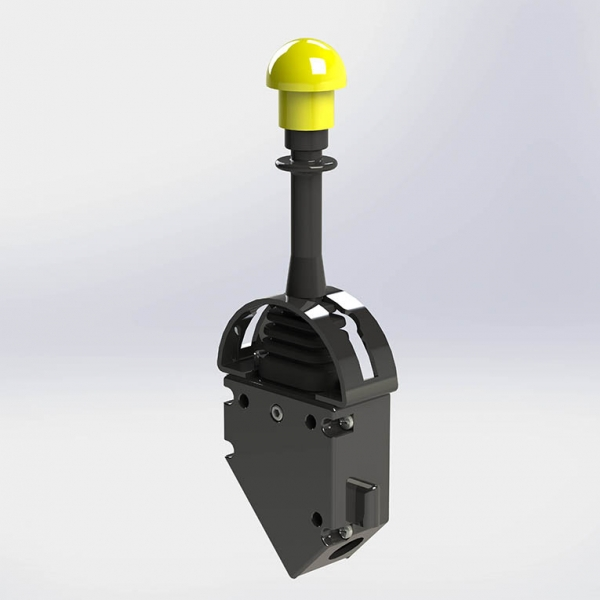Control lever for hydraulic pumps