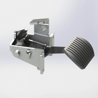 Suspended throttle pedal